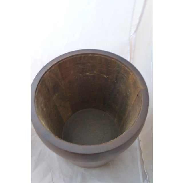 Mid Century Modern Large Walnut Ice Bucket For Sale - Image 5 of 7