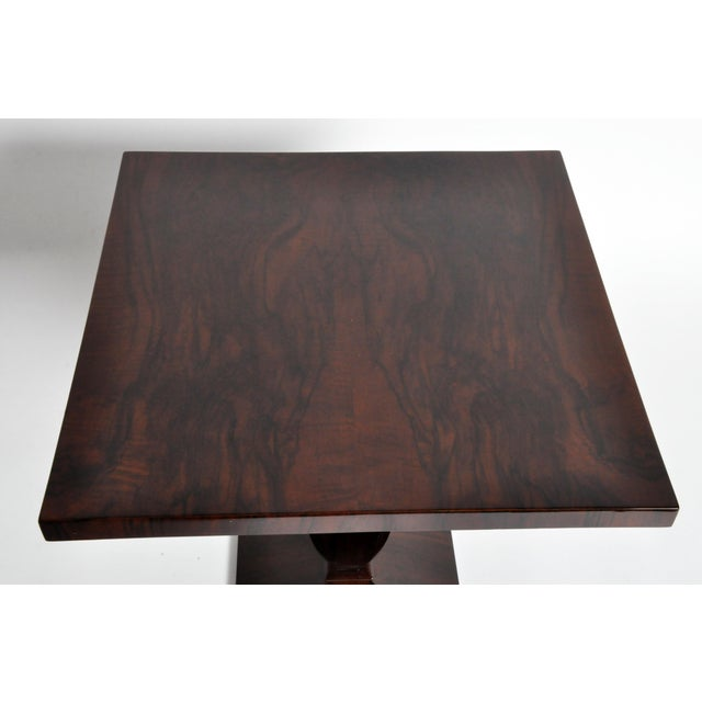 Veneer Art Deco Style Square Side Table For Sale - Image 7 of 11