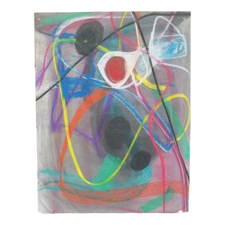 Abstract Pastel Drawing #6 by Terry Frid For Sale