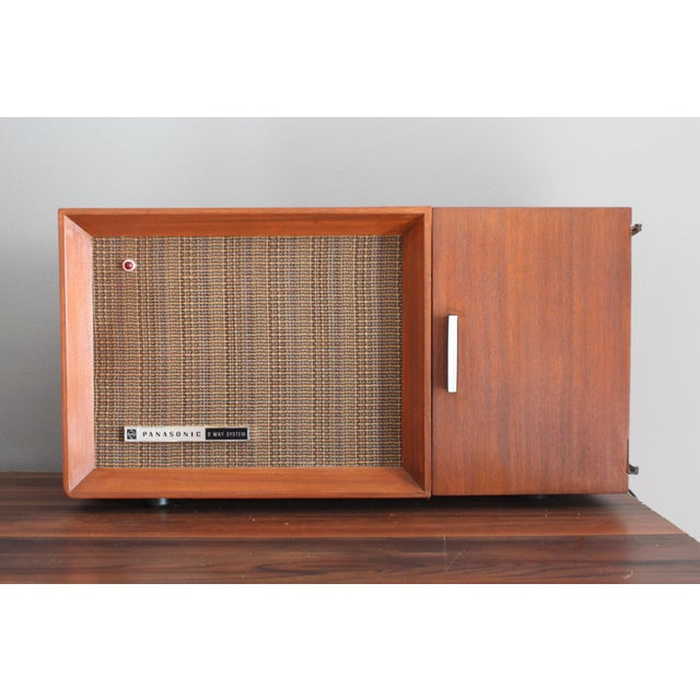 Vintage Panasonic Solid State Amfm Transistor Radio Model #Re-7487 With Refinished Teak Cabinet For Sale - Image 10 of 10