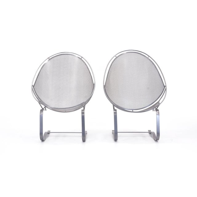 1960s John Salterini High Back Patio Lounge Chairs With Footrests - a Pair For Sale - Image 5 of 11