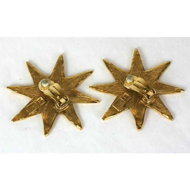 Modern Yves Saint Laurent Starburst Earclips For Sale - Image 3 of 4