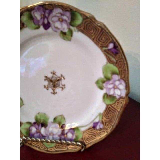 Art Deco 19th Century French Limoges Art Deco Plate For Sale - Image 3 of 10
