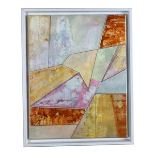 Contemporary Geometric Abstract Acrylic Painting, Framed For Sale