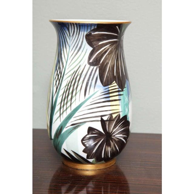 Art Deco Porcelain Vase by Robert Bonfils For Sale - Image 5 of 8