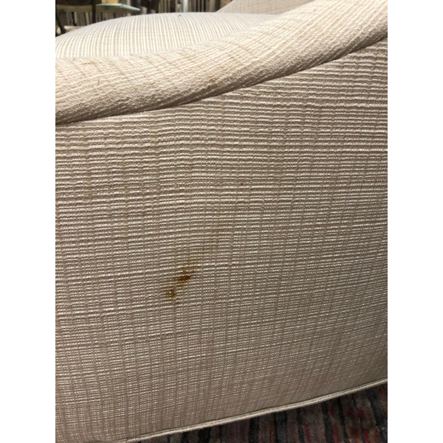 Transitional Beige Fabric Club Chair For Sale - Image 4 of 5