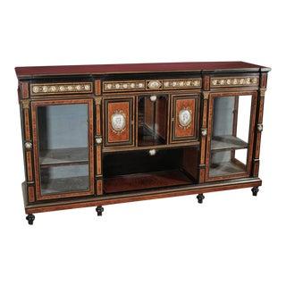 Napoleon III Burl Walnut and Ebony Sideboard For Sale