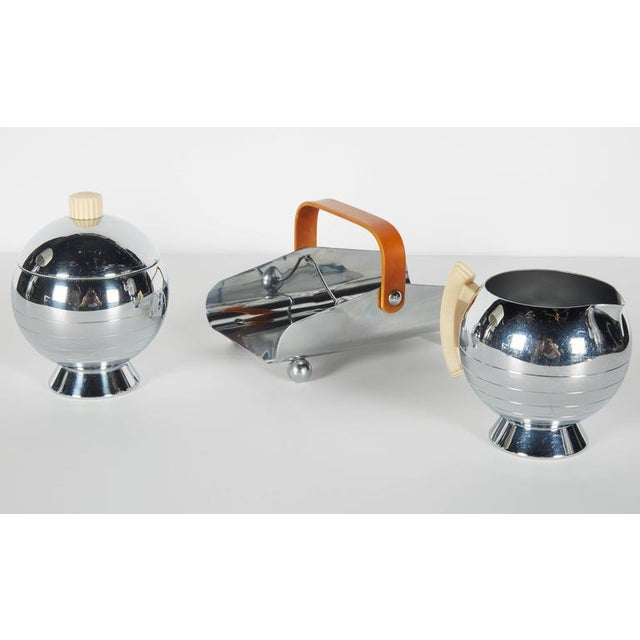 Art Deco Machine Age Coffee Service Set by Walter Von Nessen for Chase For Sale In New York - Image 6 of 10