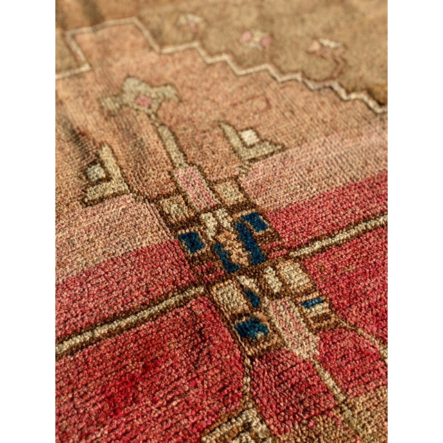 Textile 1950s Turkish Oushak Wide Runner For Sale - Image 7 of 13