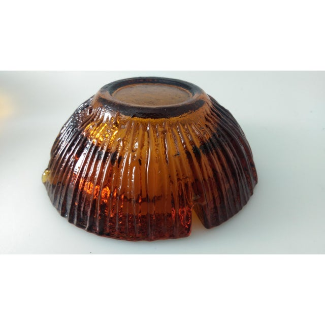 Mid Century BLENKO Amber Ashtrays - Pair - Image 5 of 9