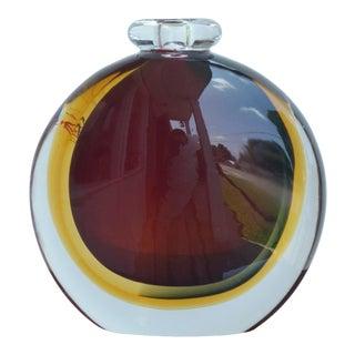 """1970s Murano Vetro Artistico """"Formia"""" Round Vase For Sale"""