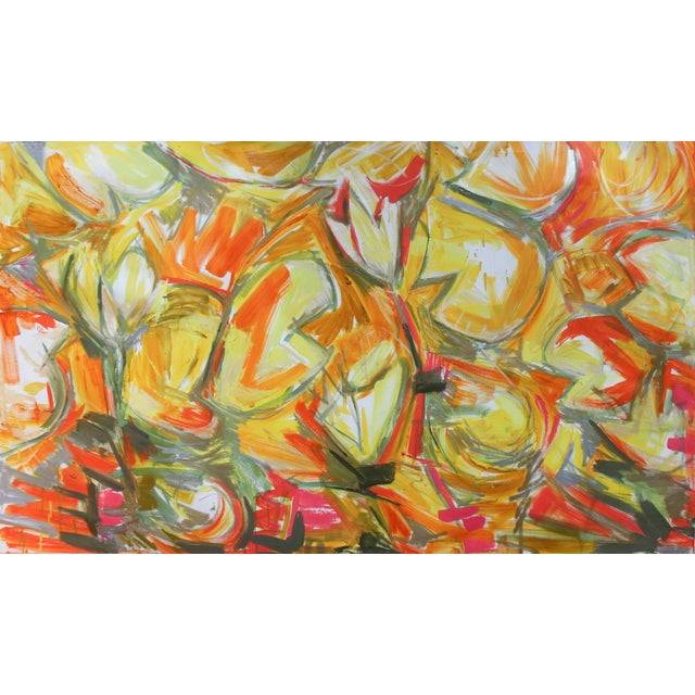 """""""Chinese New Year 3"""" Abstract Oil by Trixie Pitts - Image 1 of 3"""