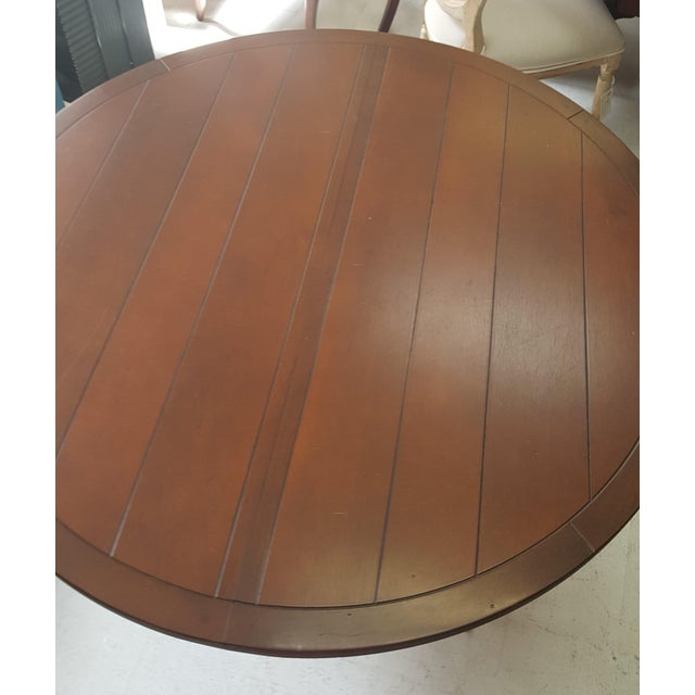 Creative Metal Round Table With Extra Leaf For Sale - Image 9 of 12