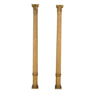 Circa 1870 Half Gilt Columns - A Pair For Sale