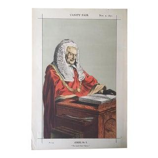 Antique Vanity Fair Caricature of Sir Fitzroy Kelly