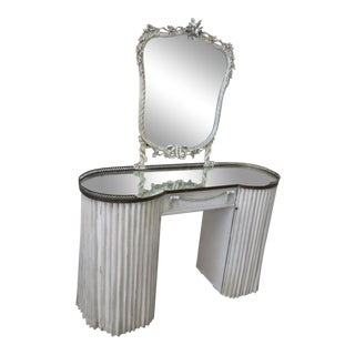 Mid 20th Century Swedish Style Vanity With Mirror For Sale
