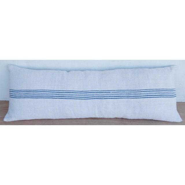 Long French Homespun Body Pillow - Image 3 of 8