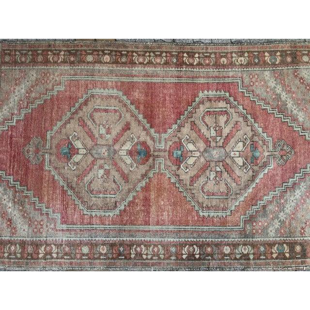 Oushak Handmade Distressed Antique Floor Carpet For Sale - Image 6 of 11