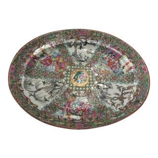 Antique Famille Rose Platter For Sale