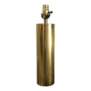 Vintage Brass Walter Von Nessen Cylindrical Table Lamp For Sale