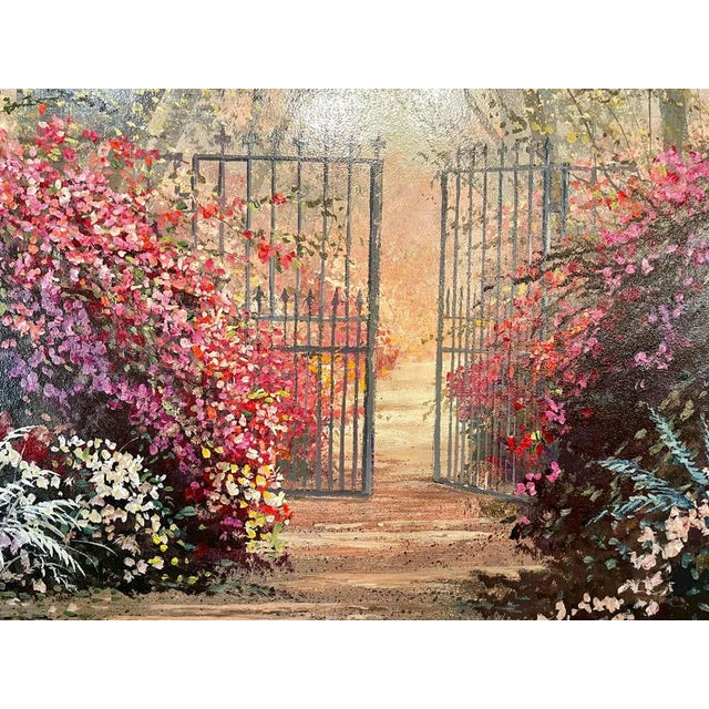Juan Archuleta Gates and Garden Painting For Sale - Image 4 of 13