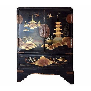 Chinoiserie Jewelry Armoire For Sale