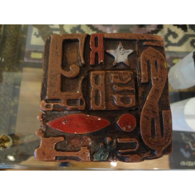 Metal Mid Century Modern Alpha Cube Sculpture by Sheldon Rose For Sale - Image 7 of 13