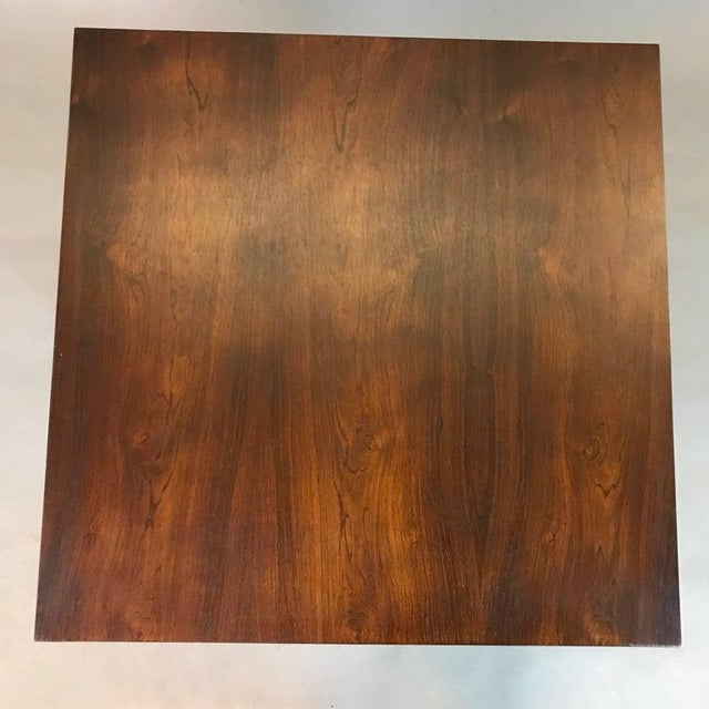 1960s 1960s Mid-Century Modern Rosewood and Chrome Coffee or Side Table For Sale - Image 5 of 6