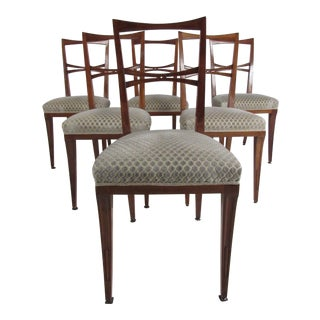 Mid-Century Italian Dining Chairs After Gio Ponti For Sale