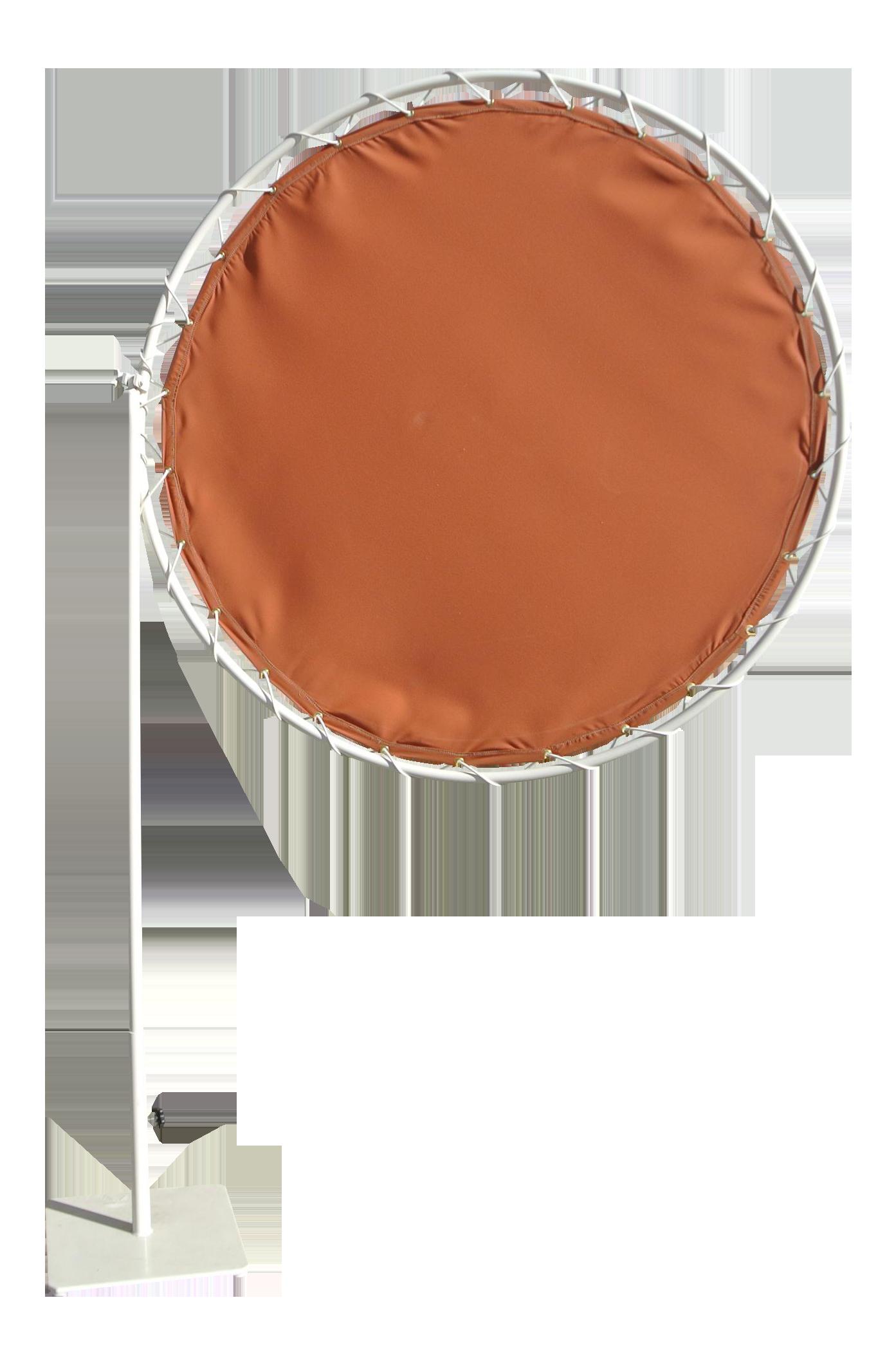 Brown Jordan Mid Century Modern Sun Shade Umbrella With Base
