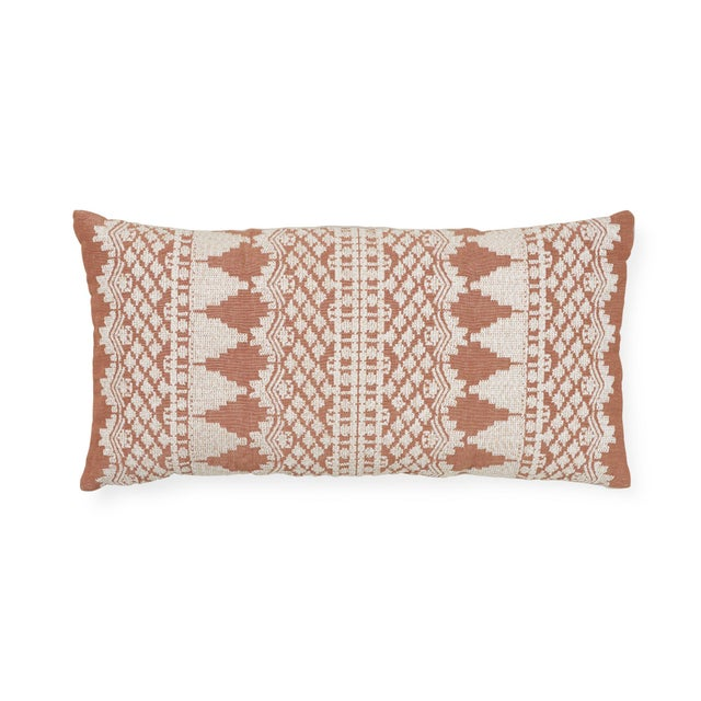 Textile Schumacher Wentworth Embroidery Pillow in Rust For Sale - Image 7 of 7
