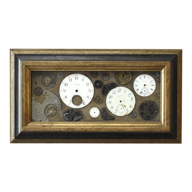 Mid-Century Lee Waterman Pocket Watch Collage For Sale