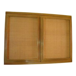 1950s Mid-Century Modern John Widdicomb Cane Cabinet For Sale