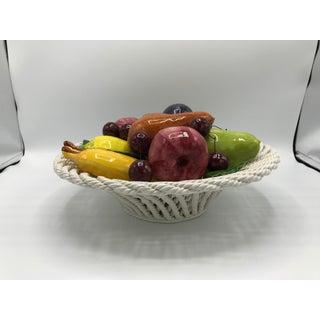 1960s Italian Ceramic Fruit Basket Sculpture Preview