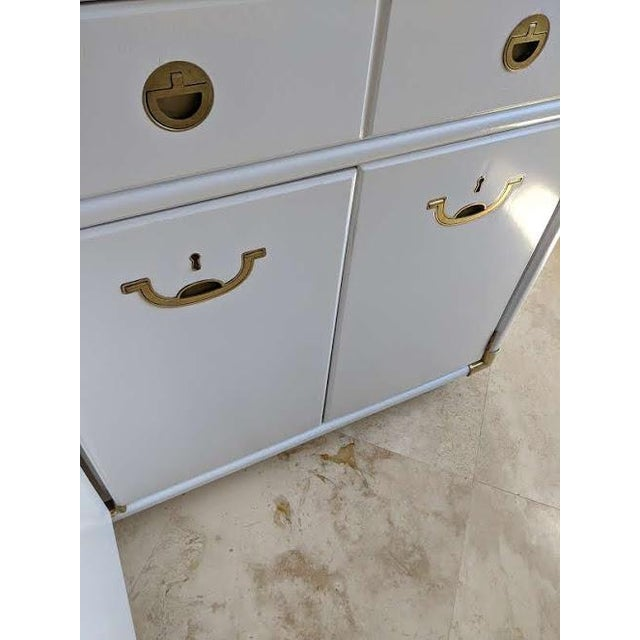 1970s Campaign Drexel Accolade White Credenza For Sale In Phoenix - Image 6 of 11