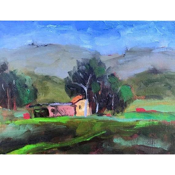 Blue Pena Adobe Park Vacaville Oil Painting For Sale - Image 8 of 8