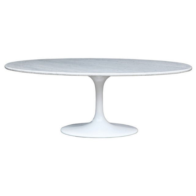 Saarinen Style Oval Marble Dining Table - Image 1 of 7