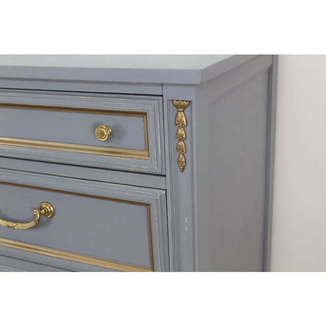 Yellow Mid Century Gray Neoclassical Style Dresser For Sale - Image 8 of 11