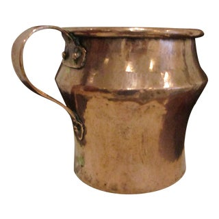 Antique 1820s New England Massive Dovetailed Copper Tavern Pitcher Ewer