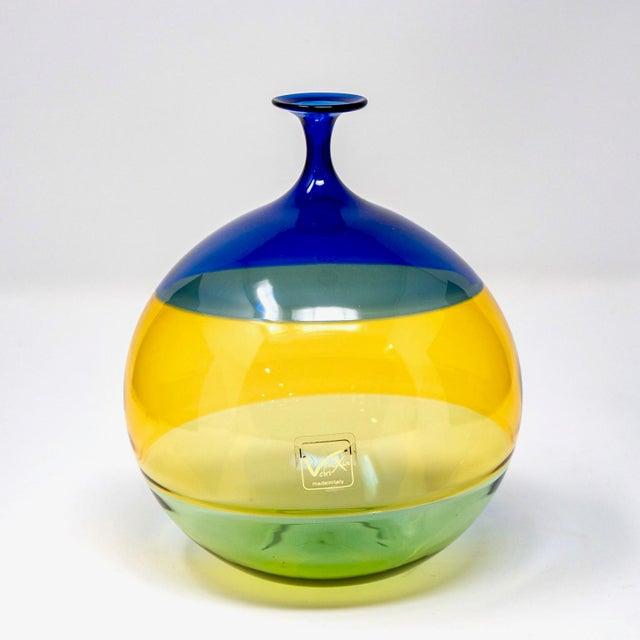 Vinciprova Color Block Murano Glass Vase For Sale - Image 4 of 7