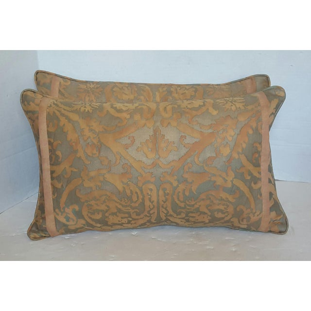 Fortuny Damask Lumbar Pillows - A Pair - Image 2 of 4