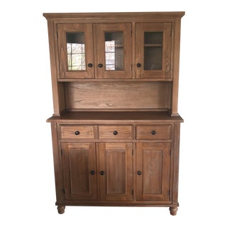 Crate & Barrel 2 Piece Hutch