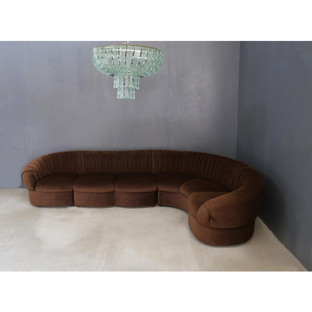 Mid-Century Modern 70's Modular Corner Sofa With Armchair. For Sale - Image 3 of 9