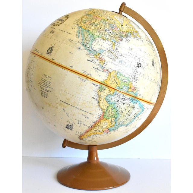 "Vintage 12"" Replogle Globemaster Topographical Relief Globe For Sale - Image 10 of 10"