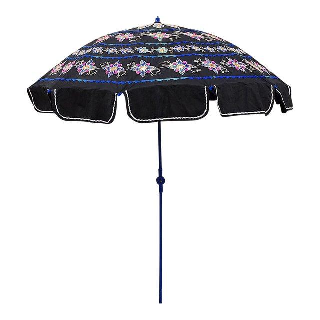 Sun Umbrella Garden Umbrella, Embroidered Cotton - Image 1 of 11