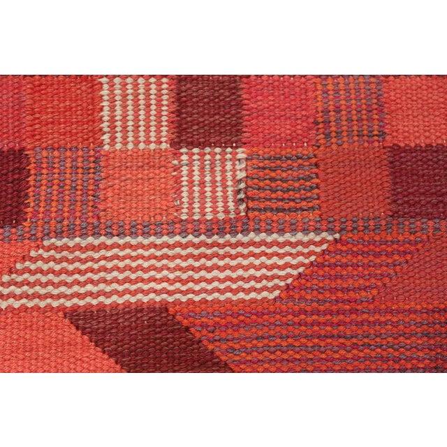 Breathtaking vintage geometric Marta Maas Scandinavian rug by Barbro Nilsson, country of origin / rug type: Scandinavia...