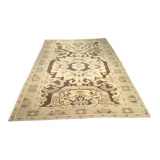 "Bellwether Rugs Vintage Turkish Oushak Rug - 6'x9'5"" - Image 1 of 8"