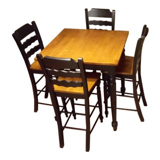 Traditional Wooden Dining Set - Set of 5