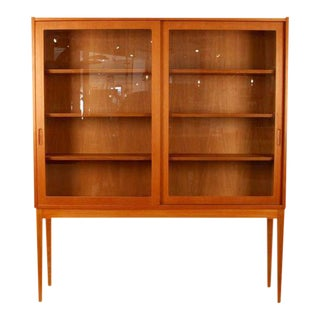 Vintage Danish Oak & Glass Cabinet