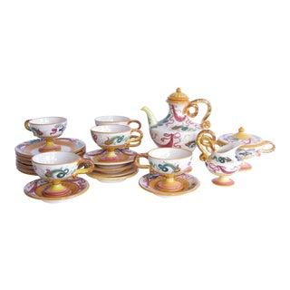 20th Century Italian Ardalt Tea Set - 21 Pieces For Sale